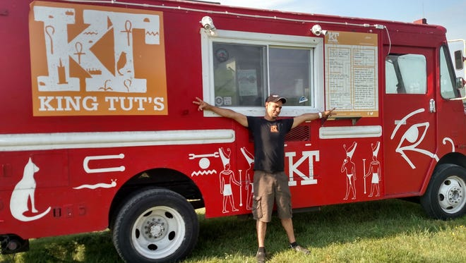 Ragab Rashwan, owner of King Tut's food truck, which serves an Egyptian version of Middle Eastern/Mediterranean fare.