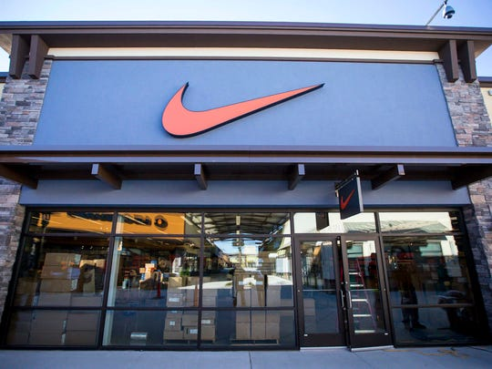 Nike Factory Store,  with about 12,000 square feet, is one of the larger tenants at the Outlets of Des Moines in Altoona, Iowa.