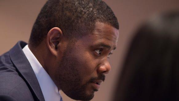 Darrio Melton, D-Selma, looks on during the 2016 Alabama