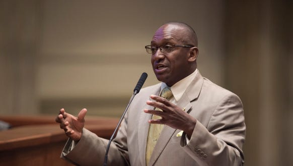 Bobby Singleton, D-Greensboro, speaks during discussion