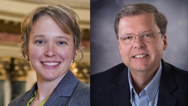 Democrat Mandy Wright (left) and Republican Pat Snyder are competing for the District 85 seat in the Wisconsin Assembly.