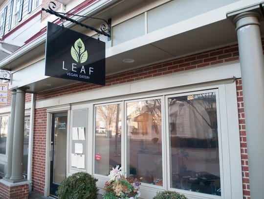 Exterior of Leaf Vegan Eatery in Haddonfield.