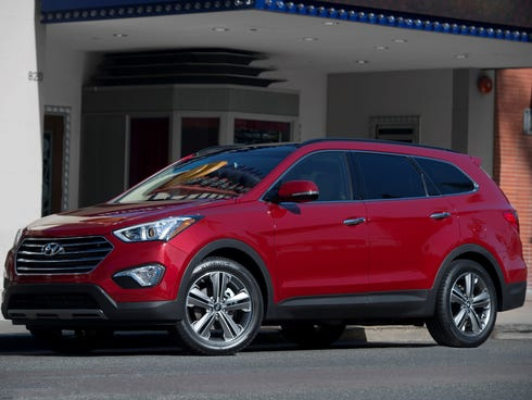 New three-row Santa Fe replaced discontinued Vera Cruz in Hyundai lineup, giving the automaker a more mainstream family-size SUV.