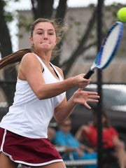 Gibson Southern's Camille Greenwell hits a forehand