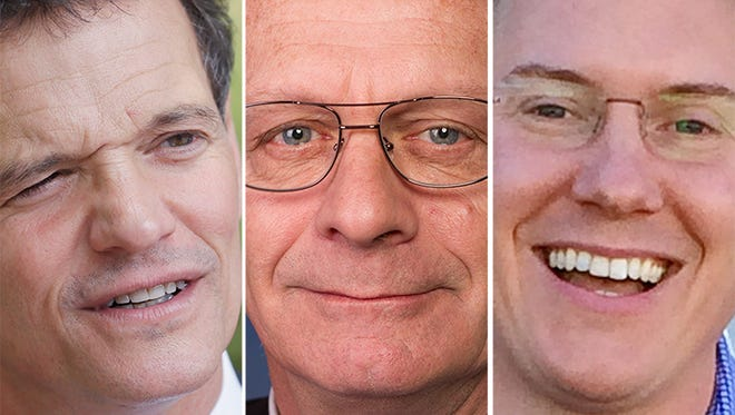 David Trott, from left, Kerry Bentivolio and Bobby McKenzie.