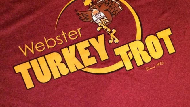 T-shirt for the 43rd Annual Webster Turkey Trot