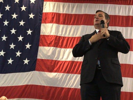 Senator Ted Cruz speaks passionately to veterans how