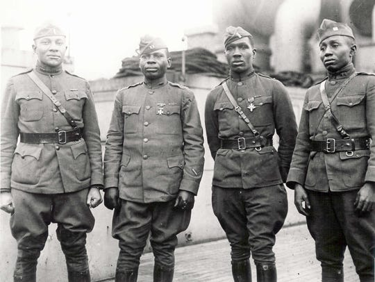 Decorated 92nd Division officers, World War I, France
