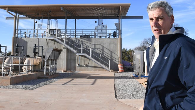 In this file photo, Wichita Falls Director of Public Works Russell Schreiber talks about the IPR water system at the River Road Wastewater plant. The IPR is one of the water-conservation measures the city has enacted since the end of a historic drought about three years ago.