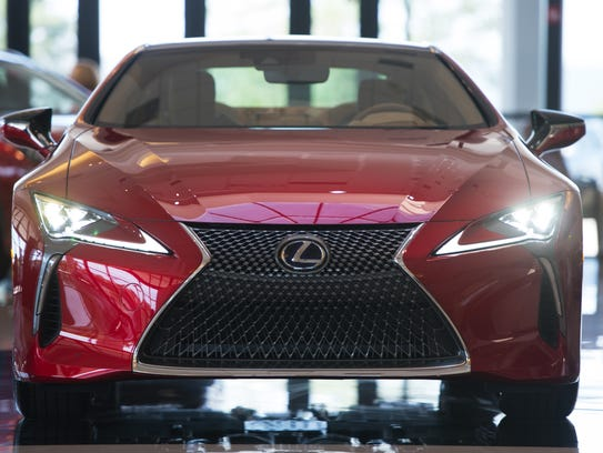 The Lexus LC500h Hybrid Coupe is a showpiece of high