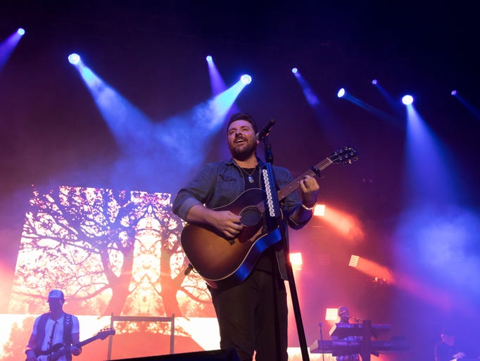 """Chris Young, at his """"I'm Comin' Over"""" tour during the"""