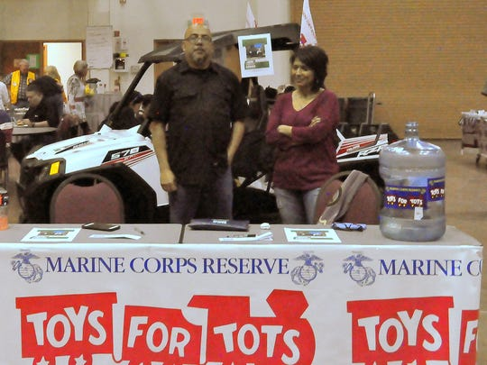 The Toys for Tots fundraising campaign is well underway. The group was set up at the gun show selling $50 tickets for a chance to win a new Polaris RZR. Call 575-808-3267 or 937-0950 to purchase a ticket.