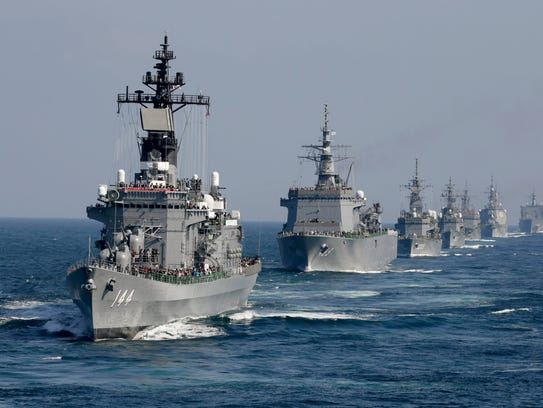 The Japanese Maritime Self-Defense Force flagship and