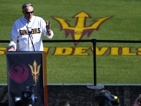 Steve Patterson seen in 2013 as Arizona State Vice