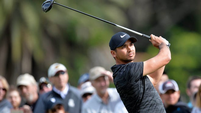 Jason Day did not finish his first round at the Genesis Open because of darkness.
