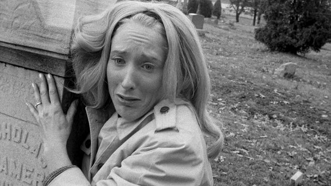 "Judith O'Dea as Barbra in the open scenes of ""Night of the Living Dead."""
