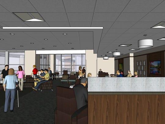 "An architect's sketch shows interior plans for a  ""survivorship"