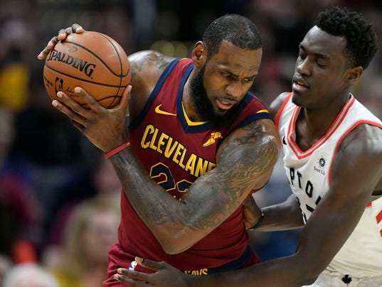 LeBron's historic game powers Cavs to needed win over Raptors