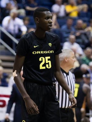 Oregon forward Chris Boucher (25) may end up having only one season with the Ducks, but he's making the most of it.