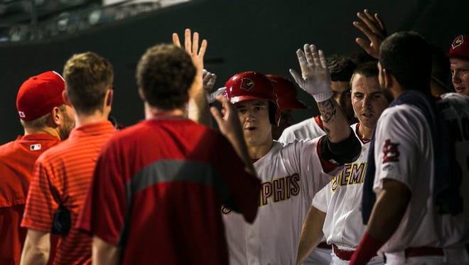 Redbirds outfielder Tyler O'Neill helped Memphis get past Colorado Springs and advance to the PCL championship series.