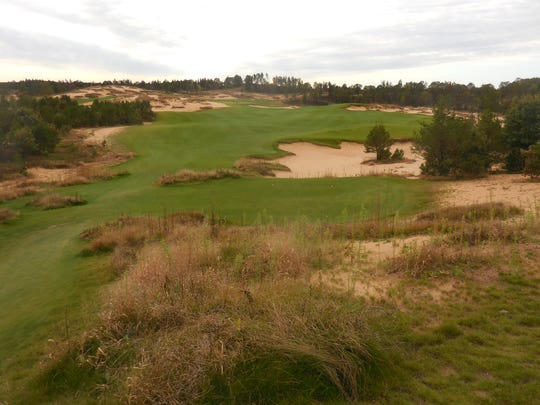 Sand, sand everywhere at Sand Valley. A huge lake covered
