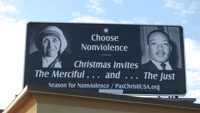Blue Water Pax Christi is spreading the message of nonviolence during the Christmas season.