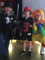 El Riad Shrine clowns visit children with physical disabilities.