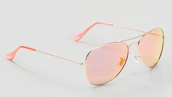 Mirrored Aviator Sunglasses from LOFT.