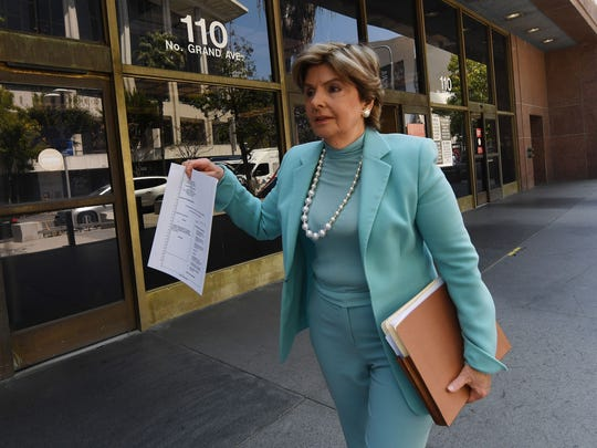 Attorney Gloria Allred at Los Angeles County Superior