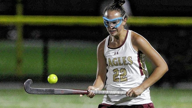 Camille Gregory, a junior midfielder, is among the top returnees for the Watterson field hockey team and 24th-year coach Janet Baird.