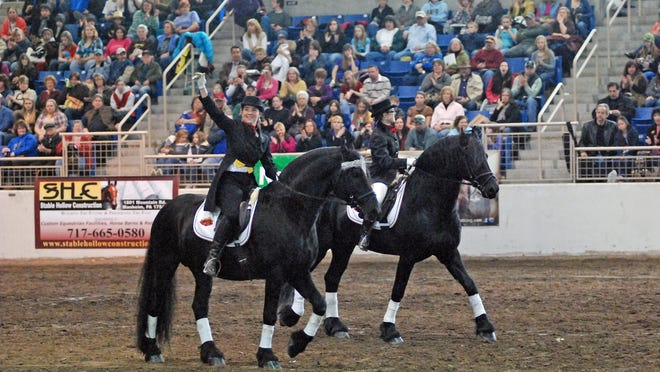 A dressage demonstration in the Parade of Breeds.
