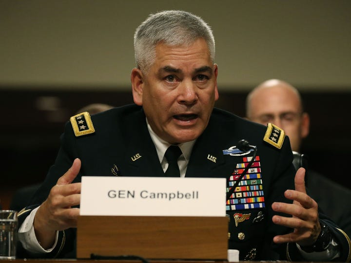 US Army Gen. John Campbell commander of the Resolute