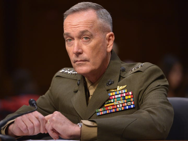 Marine Corps Gen. Joseph Dunford testifies July 9 at
