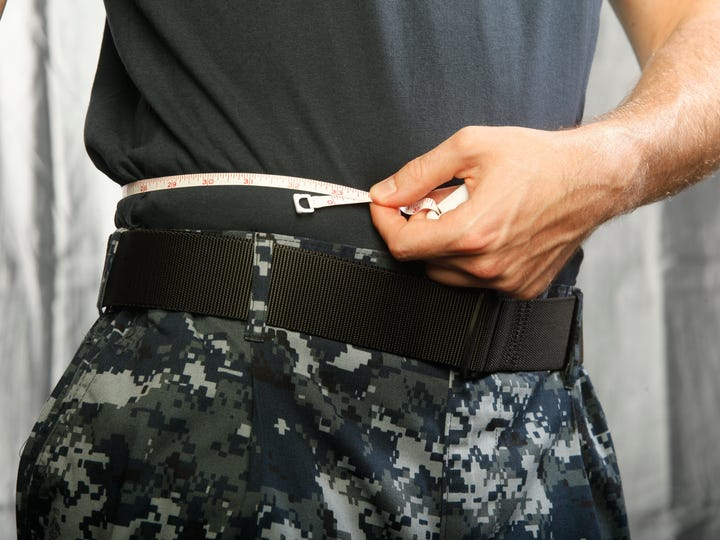 The Navy is easing body fat rules so that it's harder