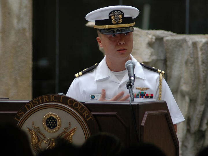 An attorney for Lt. Cmdr. Edward Lin says his client