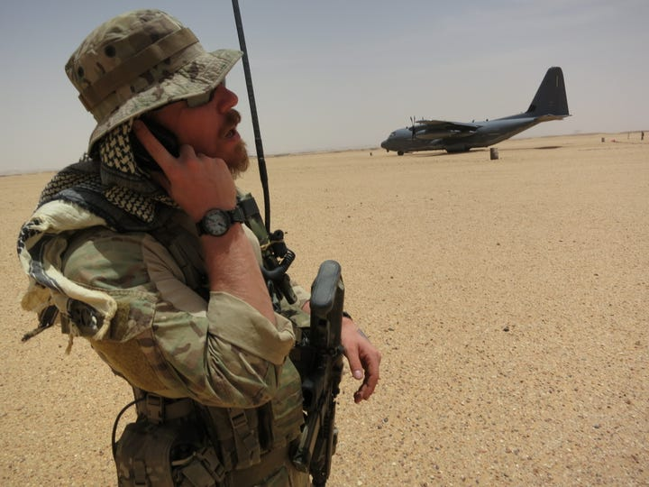 Capt. Matthew Roland, a special tactics officer, takes