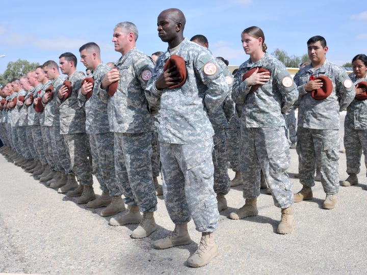 In this file photo soldiers deployed to Egypt as members