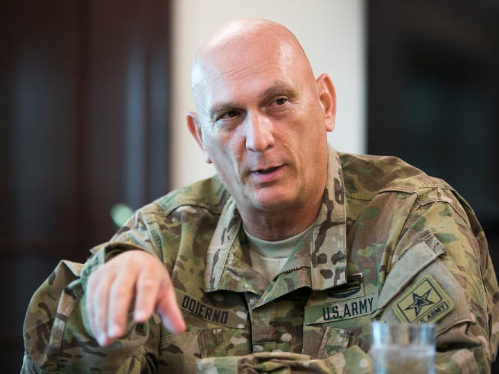 Gen. Ray Odierno, Army Chief of Staff, speaks to Army