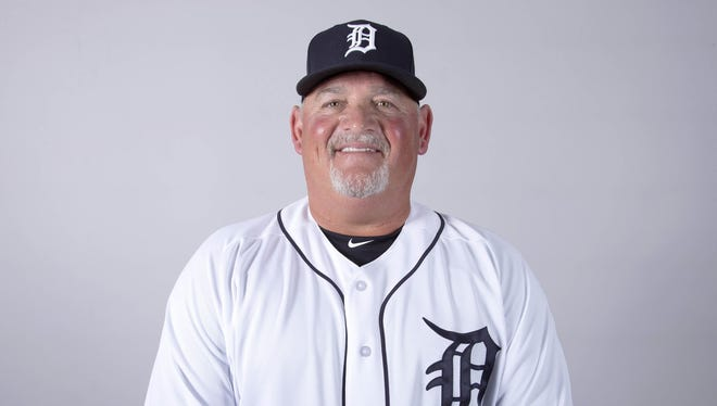 Tigers pitching coach Chris Bosio during media day at Joker Marchant Stadium on Feb. 20.