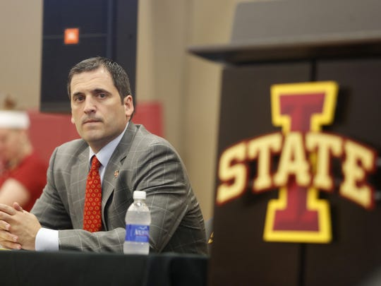 Iowa State coach Steve Prohm at his introductory news conference.