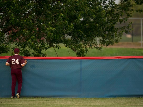 Henderson County's Dylan Sutton watches Christian County