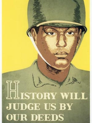 """History Will Judge Us By Our Deeds,"" 1943-44, is a lithograph by artist Lew Davis while he was on post at Fort Huachuca. Davis was born in Jerome in 1910 and died in Maricopa in 1979."