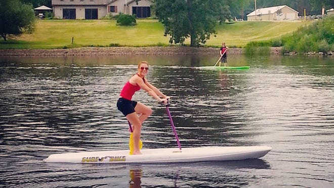 Host Mariah Haberman has some fun on the Wolf River in the Shawano area.