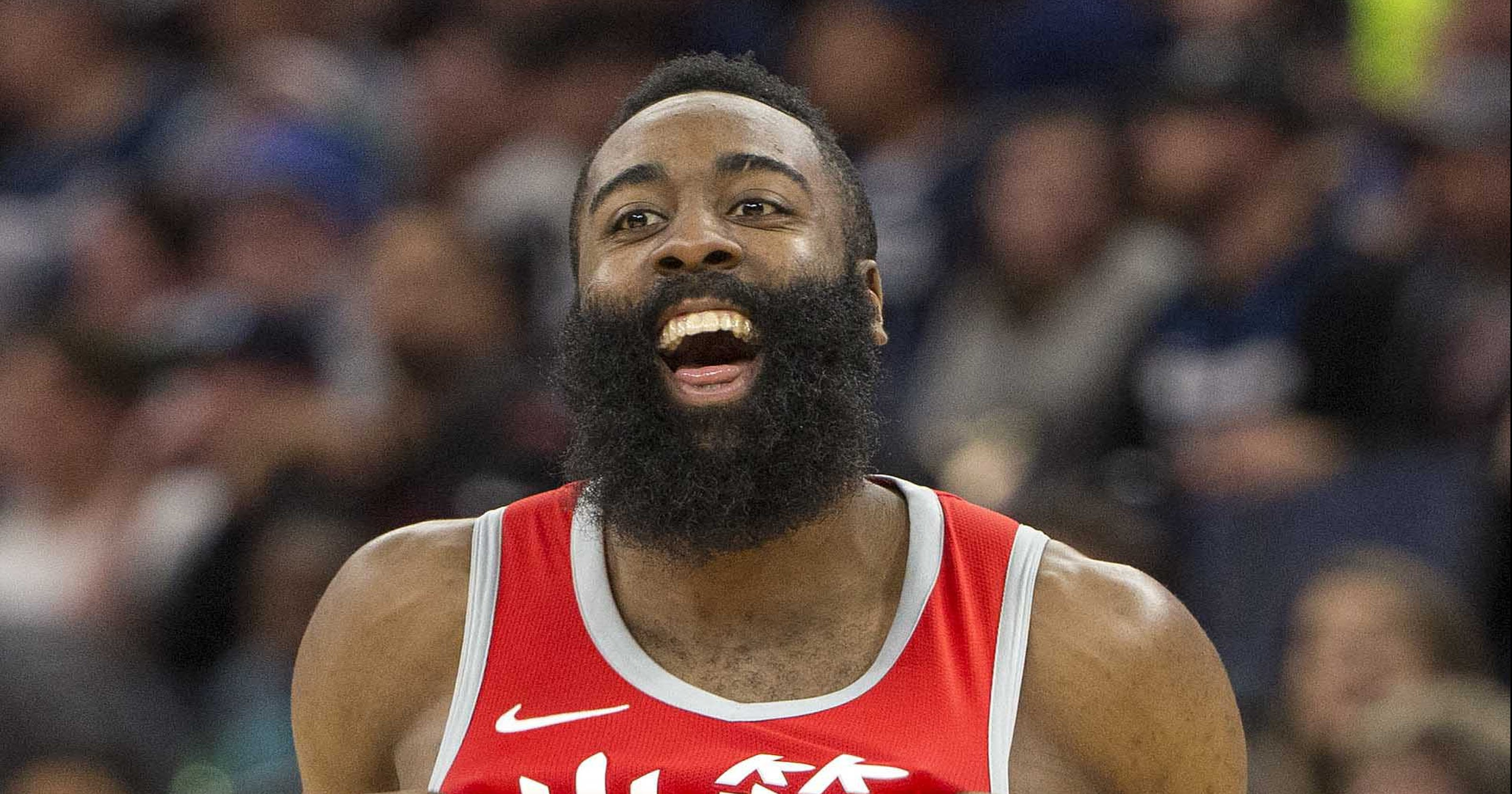 James Harden admits food gets stuck in his beard 'all of ...