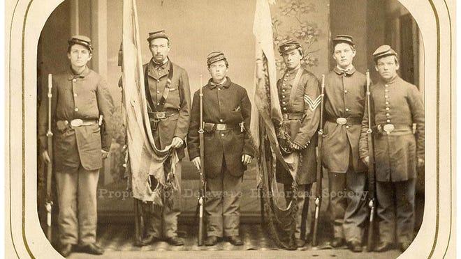 Color guard of 1st Delaware Volunteer Infantry
