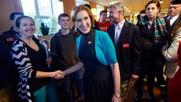 Carly Fiorina campaigns in Keene, N.H., on Nov. 18,