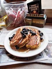 Blueberry-topped French toast from Franks Diner in