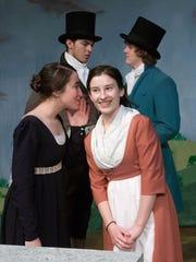 From left, Sylvia Weiskopf as Elizabeth, Richard Trevino