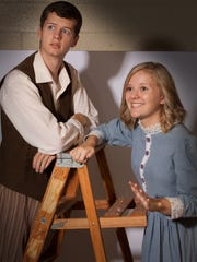 Brandon Flemmens and Jacquelyn Martin rehearse a scene