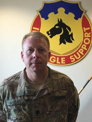 Lt. Col. Kyle Hogan is the new commander of the 127th Aviation Support Battalion.